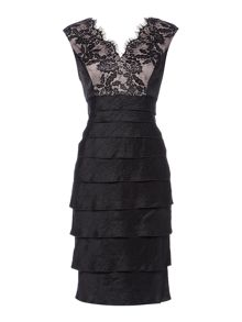 Linea Lace bodice shimmer illusion dress