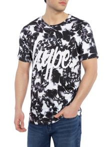 Hype Regular fit monotone all over floral print tshirt