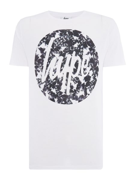 Hype Regular fit monotone circle floral print t shirt