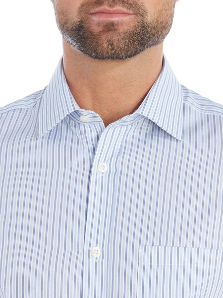 Howick Tailored Longwood classic collar striped shirt