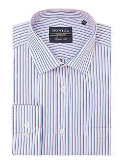 Alderwood classic collar shirt with bold stripe