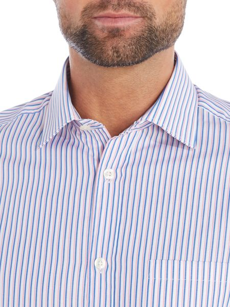 Howick Tailored Alderwood classic collar shirt with bold stripe