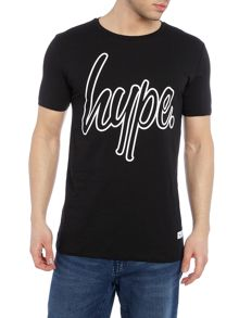 Hype Regular fit outline script logo crew neck t shirt