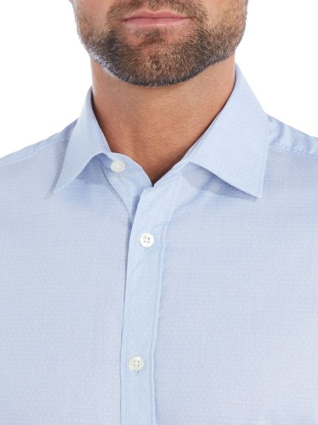 Howick Tailored Banner classic collar shirt with dobby spot