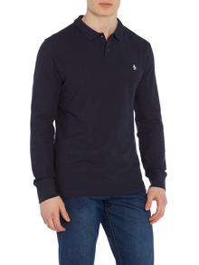 Original Penguin Cotton Raised-Rib Slim Fit Polo Shirt