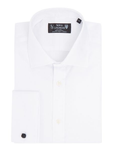 New & Lingwood Englewood tonal jaquard shirt with classic collar