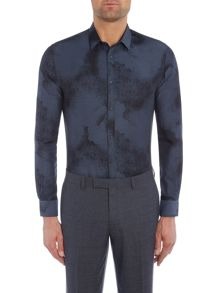 Kenneth Cole Austin slim fit jaquard shirt