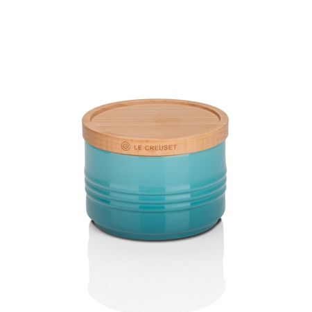 Le Creuset Small Storage Jar with Wood Lid Teal
