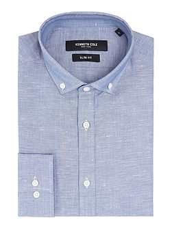 Marc textured shirt with cutaway collar