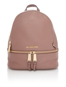 Michael Kors Rhea zip pink backpack