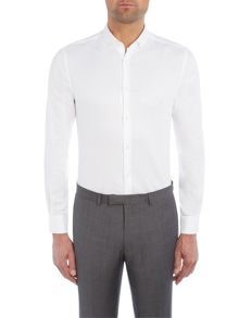 Kenneth Cole Lacey slim fit textured shirt with grandad collar