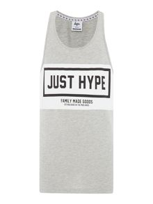 Hype Regular fit panel print crew neck sporting vest