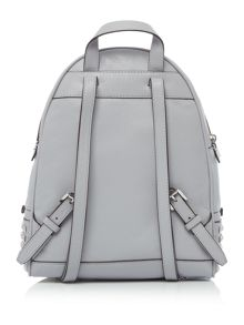 Michael Kors Rhea zip grey stud backpack
