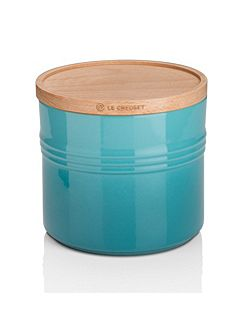 XL Storage Jar with Wood Lid Marseille Teal