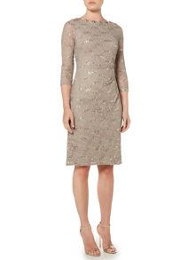 Eliza J Long sleeve sequin lace dress