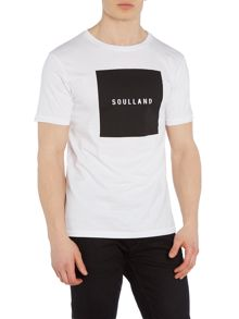 Soulland Soulsquare regular fit square logo print t shirt