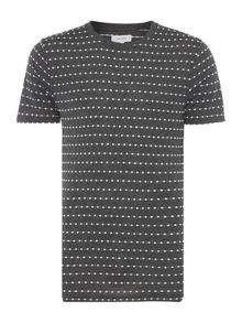Soulland Fernell regular fit embroidered dot t shirt