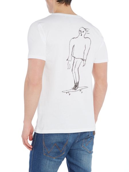 Soulland Rulez regular fit skateboard sketch t shirt