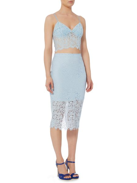 Bardot Sleeveless Lace Bralet