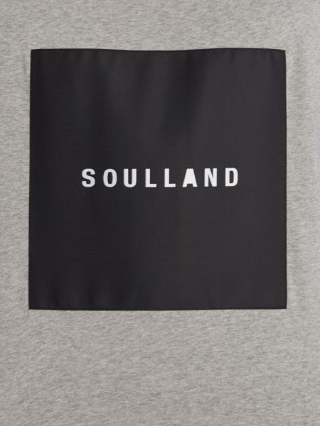 Soulland Newsoul crew neck square logo sweatshirt