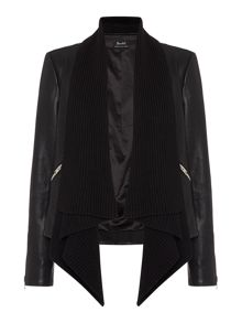 Bardot Long Sleeved Drape Jacket with Zips
