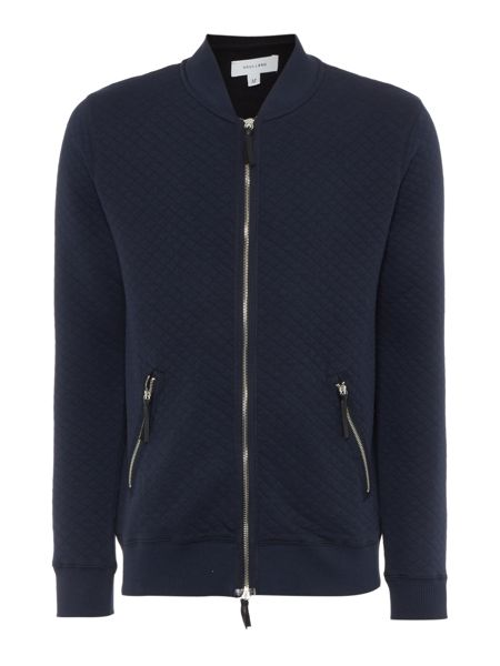Soulland Kingston quilted zip through sweatshirt