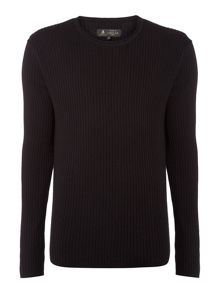 Label Lab Preston Scoop Neck Ribbed Jumper
