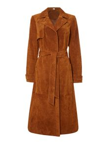 Therapy Suede Trench Coat