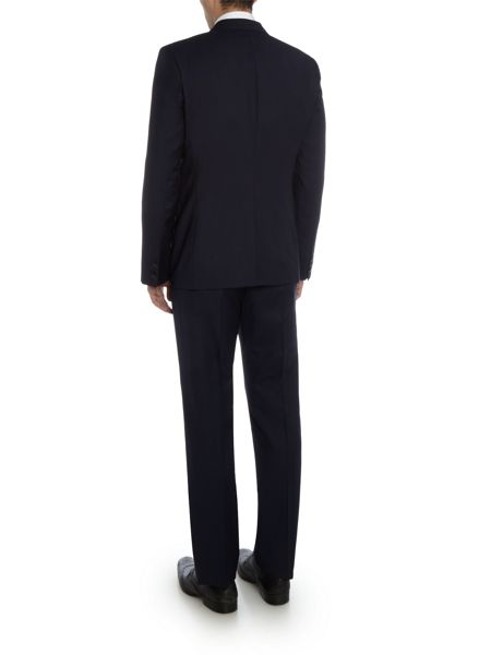 Hugo Aeron Hamen Textured Blue Wave Two Piece Suit