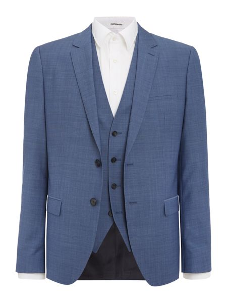Hugo Alin/Wyns/Hetlin Diamond Texture Three Piece Suit