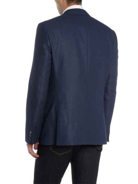 Hugo Hutsons Textured Blue Blazer