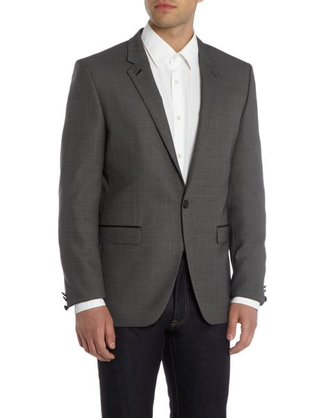 Hugo Arenz Textured Blazer With Leather Trim Detail