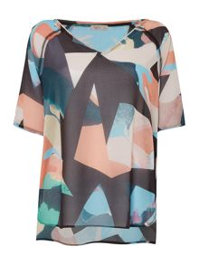 Label Lab Spectrum printed woven blouse