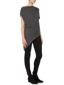 Label Lab Asymmetric rib sleeveless tunic