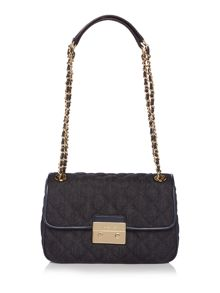 Michael Kors Sloan denim flap over chain shoulder bag