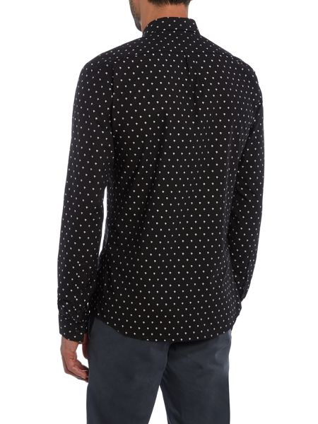 Hugo Ero Slim Chevron Jacquard Shirt
