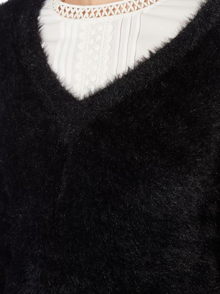 Therapy Fluffy V Neck Jumper
