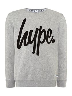 Regular fit hype logo crew neck loopback sweat
