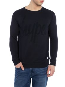 Hype Regular fit hype logo crew neck loopback sweat