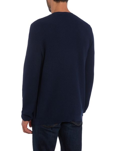 Hugo Sorito Cotton and Silk Mix Textured Crew Neck