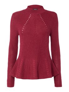 Therapy Peplum Knit Jumper