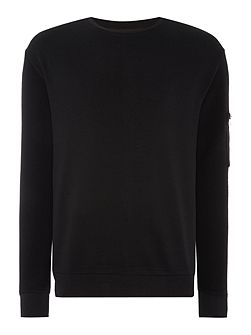 Danremo Zip Detail Crew Neck Jumper