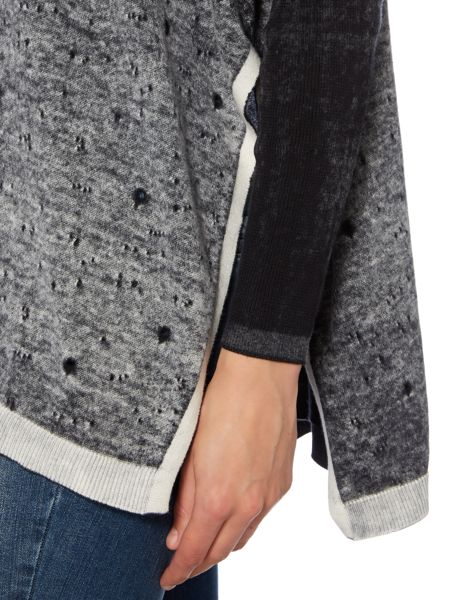 Label Lab Distressed painted knit jumper