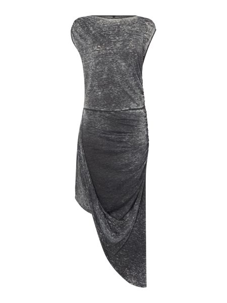 Label Lab Charcoal washed hitch jersey dress