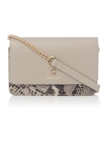Clara grey fold over chain crossbody