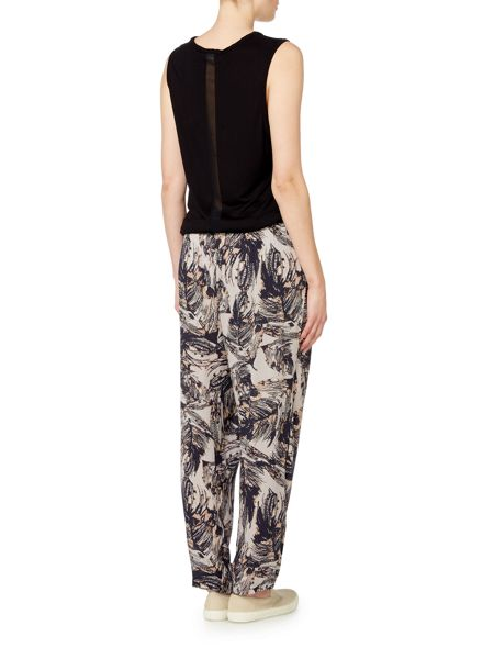 Label Lab Feather print crinkle trousers