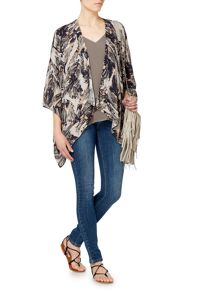 Label Lab Feather print kimono