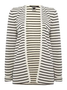 Maison Scotch Striped cotton cardigan