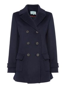 Dickins & Jones Navy Double Breasted Pea Coat