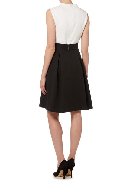 Ellen Tracy Two tone fit and flare dress